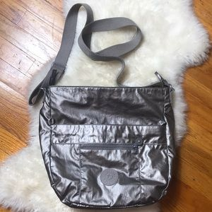 Kipling Crossbody Pewter Handbag Large